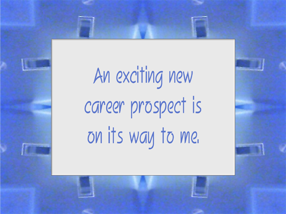 CAREER affirmation