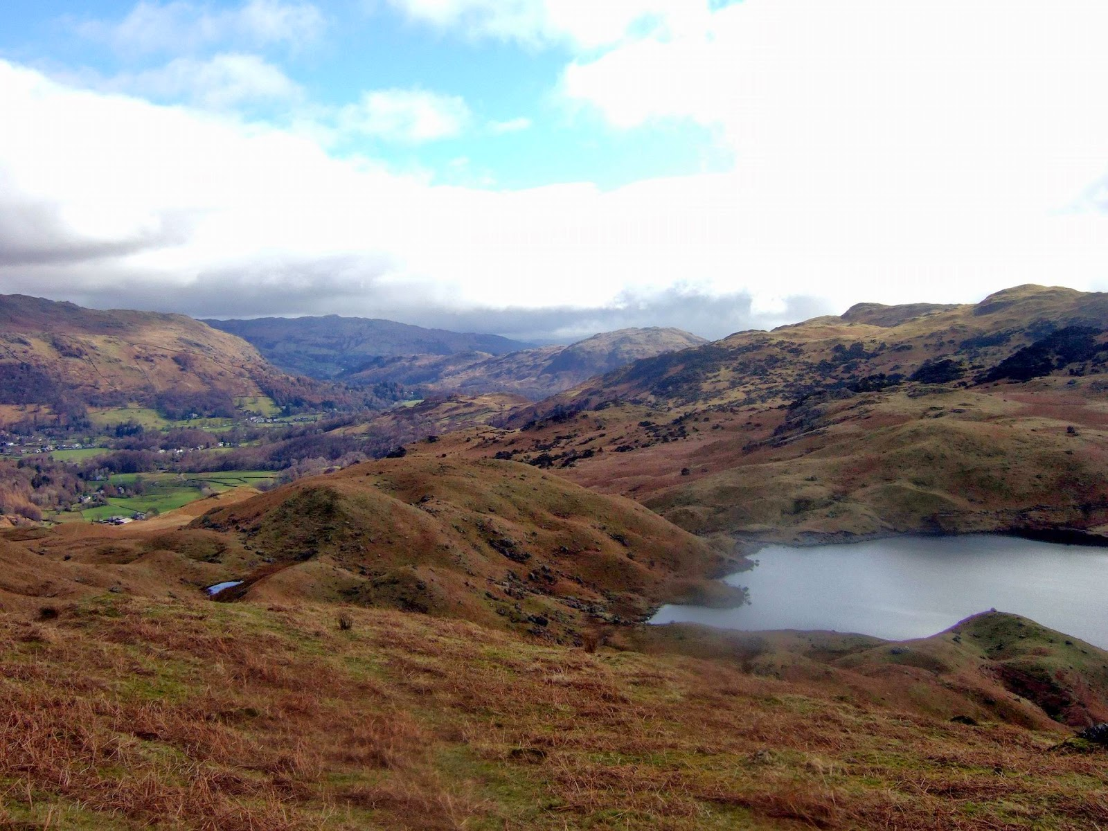 Lakeland mountain tarn in the Central Fells
