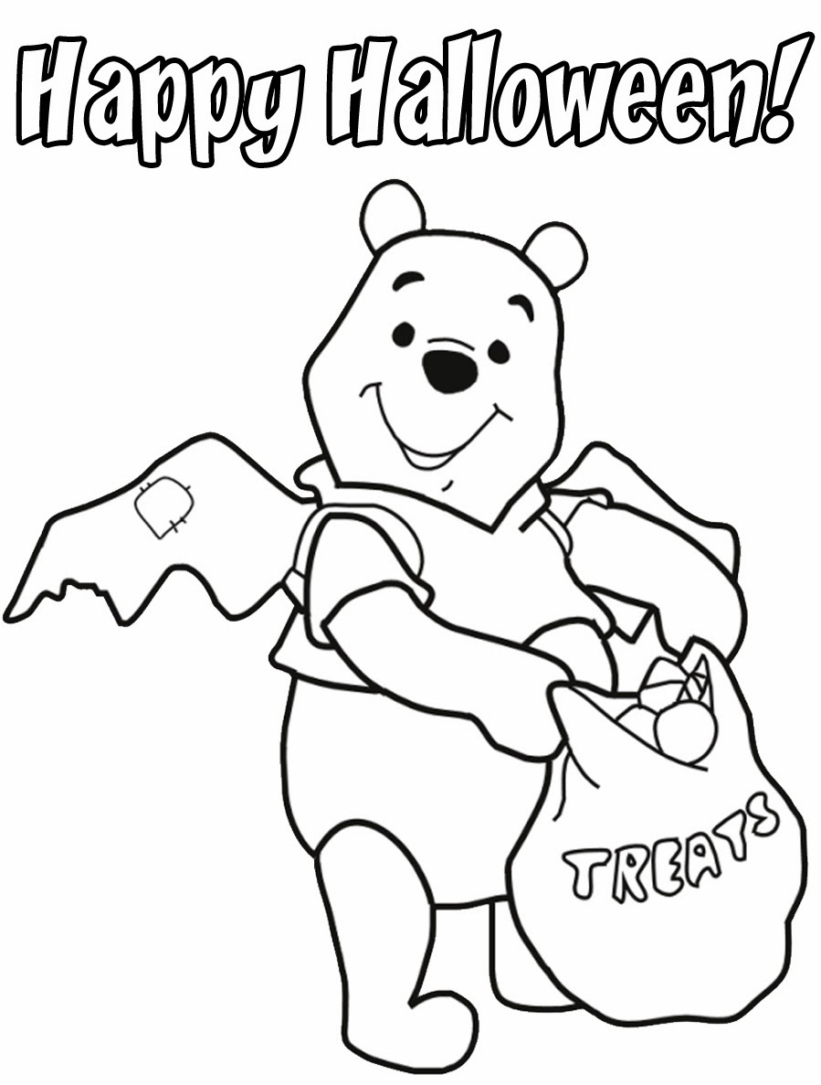 Doesnt Get Much Cuter Than A Winne The Pooh Halloween Coloring Page From Disney