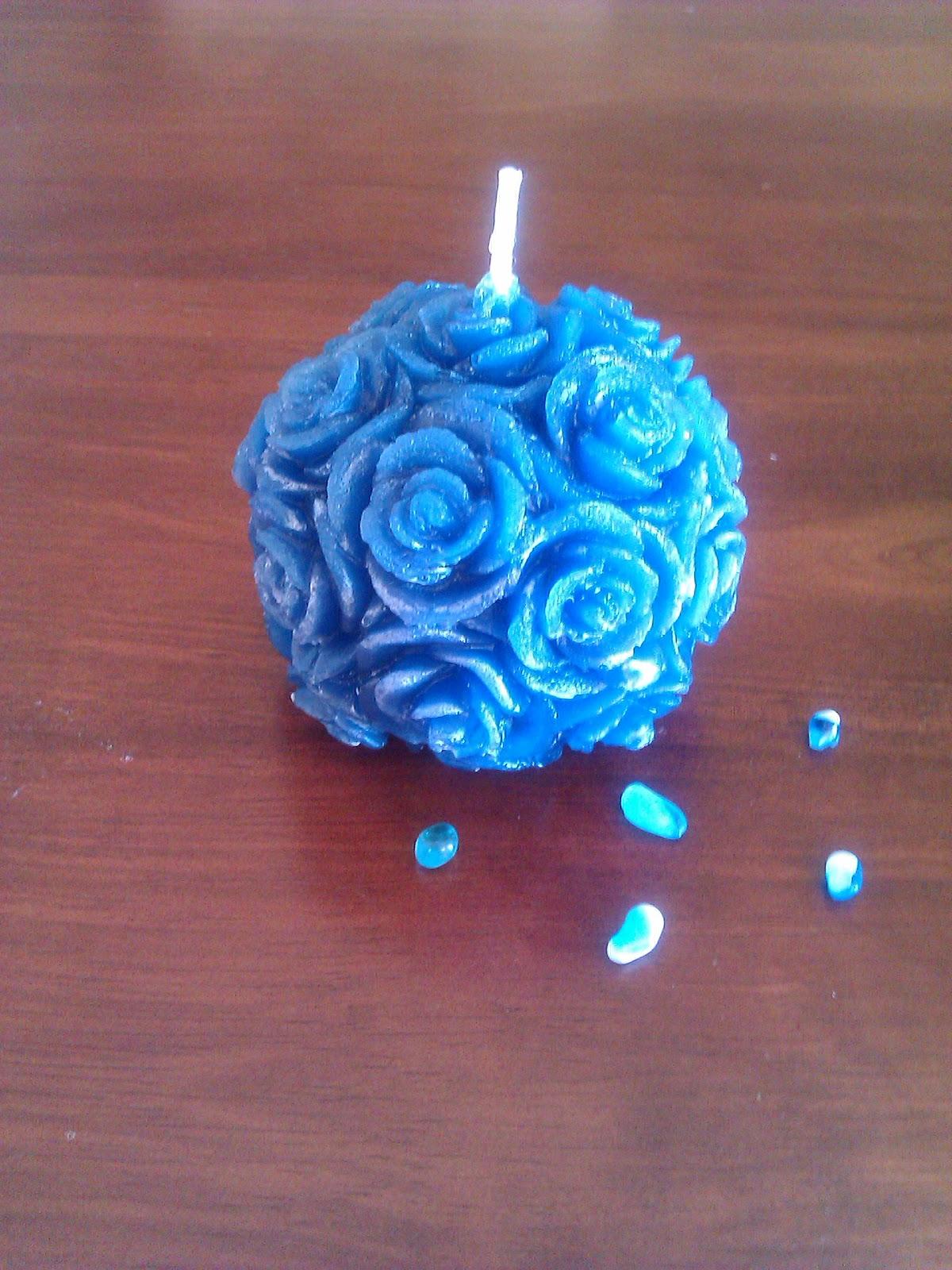 Velas decorativas vela bola con rosas - Velas decorativas ...