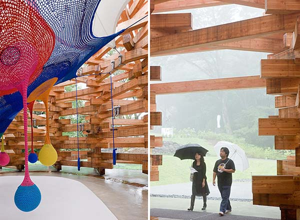 Creative Climbing Net For Children By The Hakone Pavilion