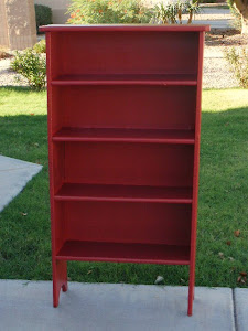 Red Bookcase  *SOLD*
