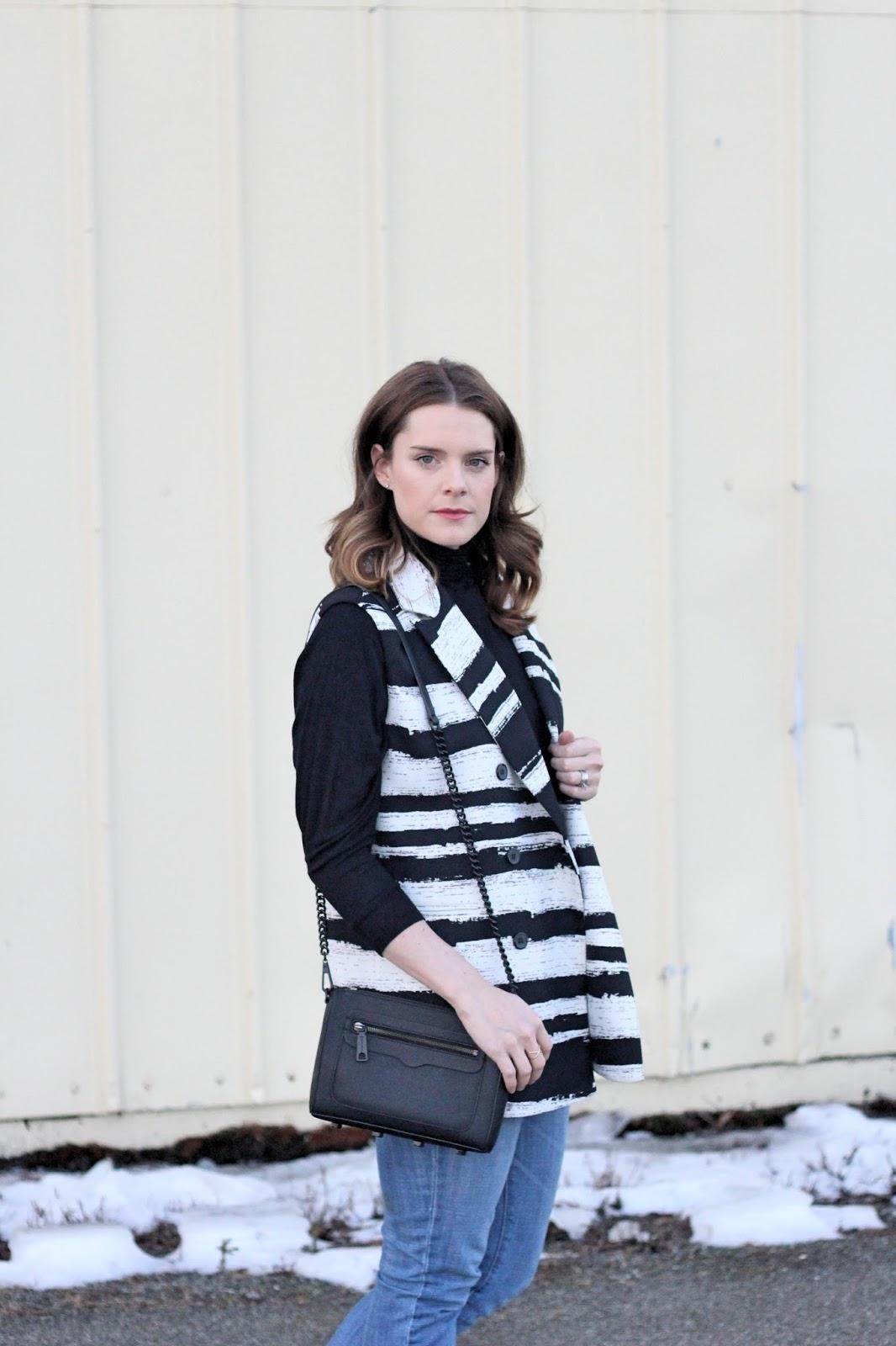 Black and White long vest
