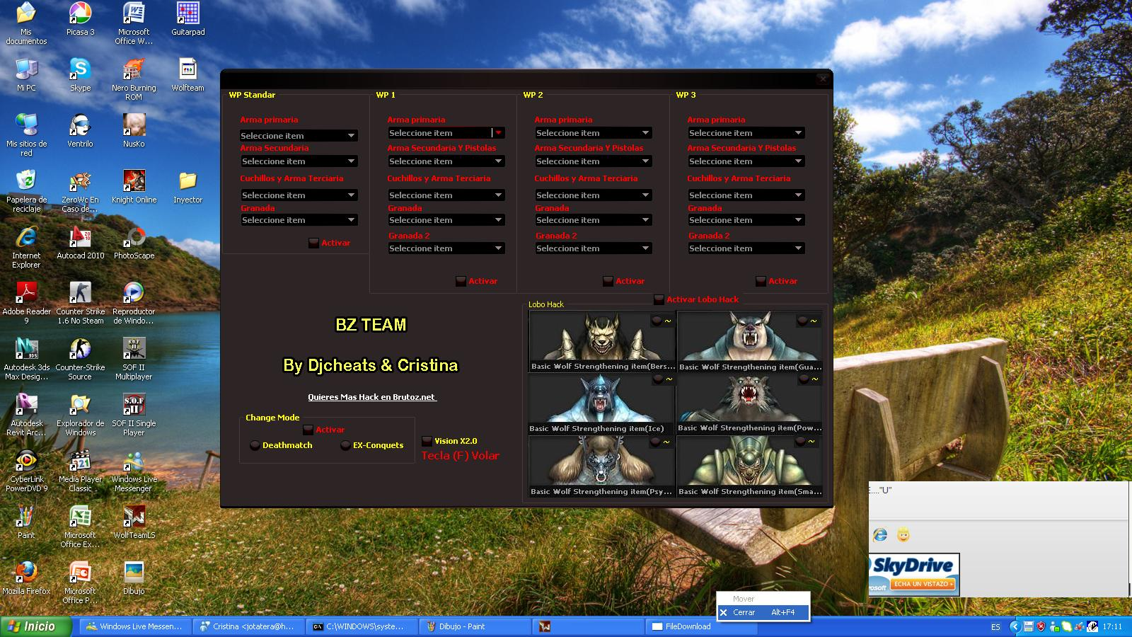 Wolfteam Trainer All Envanter – Ucma – Wallhack Hile botunu indir – Download