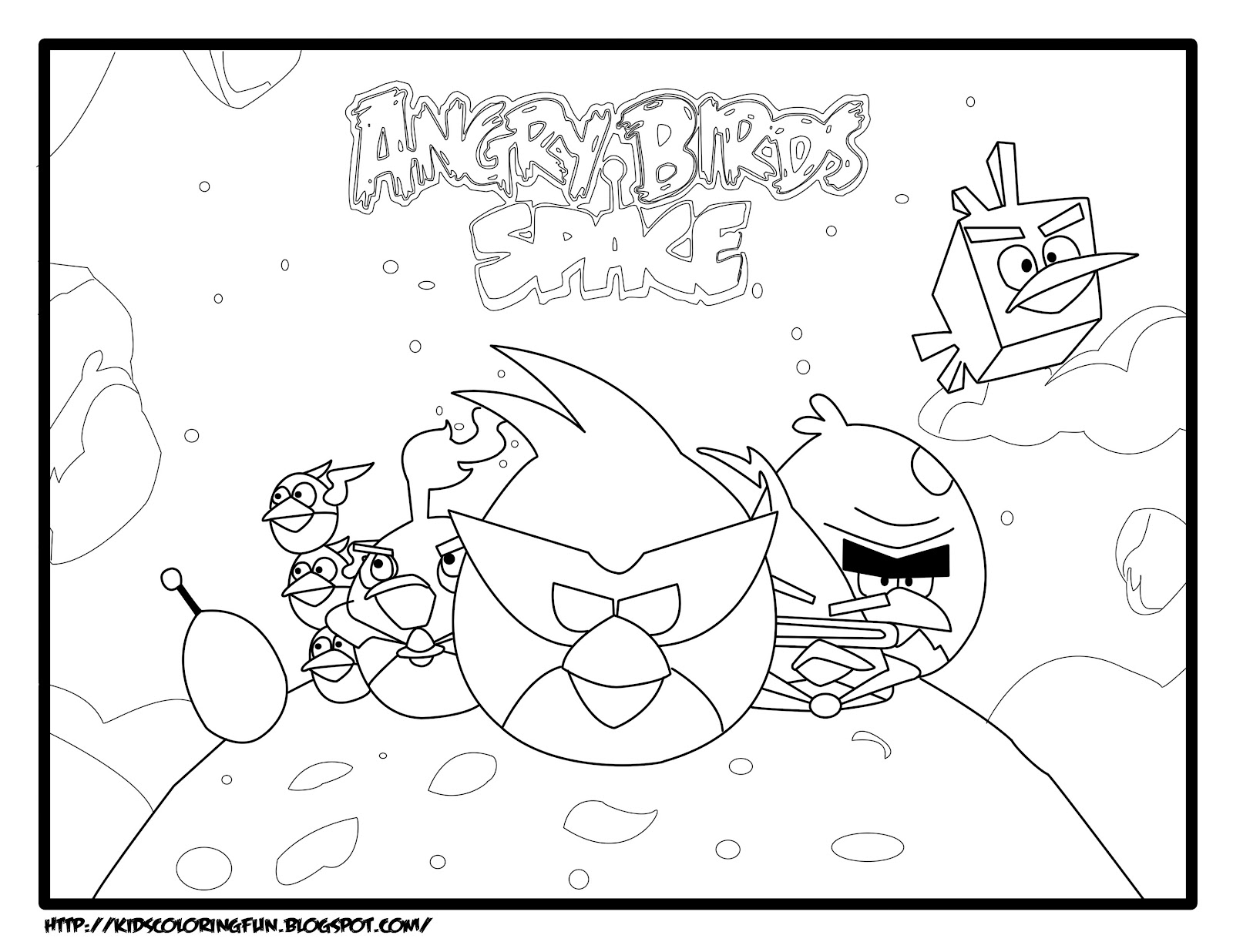 Angry Birds Space Coloring Pages Printable Coloring Pages Free Printable Space Coloring Pages