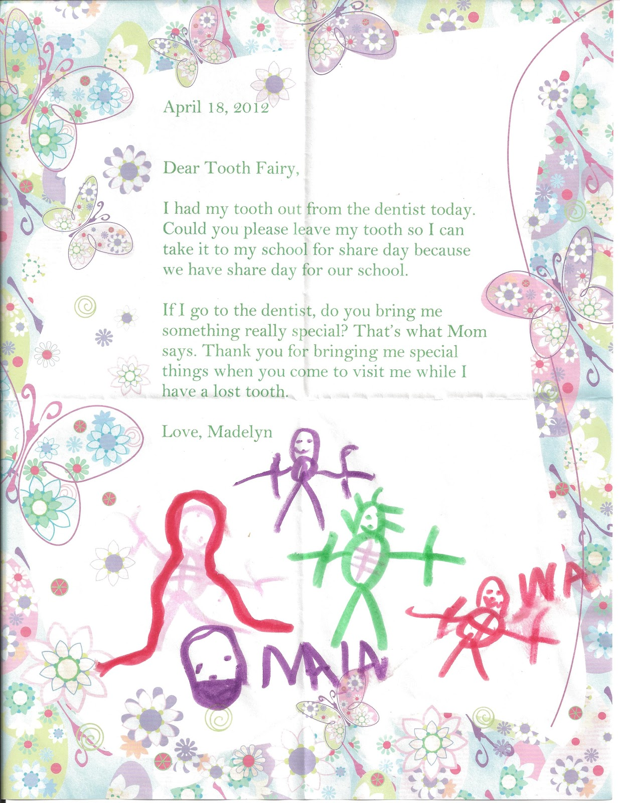 Beyond mommy tooth fairy for Fairy letters