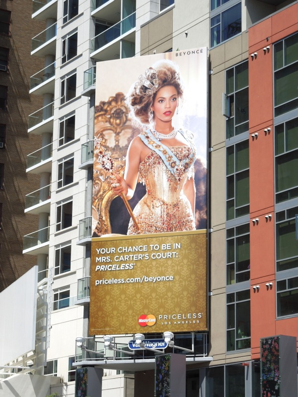 Beyonce Mrs Carter MasterCard billboard