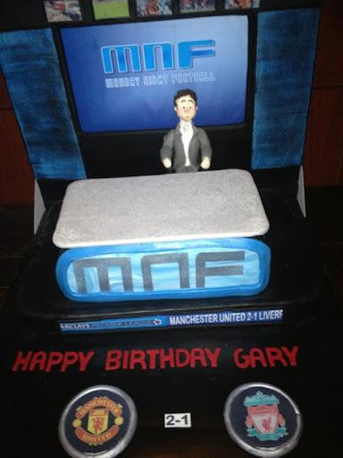 Gary Neville's birthday cake