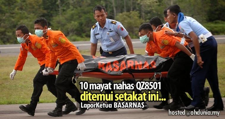 Nahas QZ8501: 10 mayat ditemui setakat ini, lapor Ketua Basarnas
