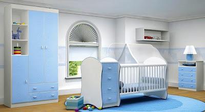 quarto para bebê, menino, simlpes azul