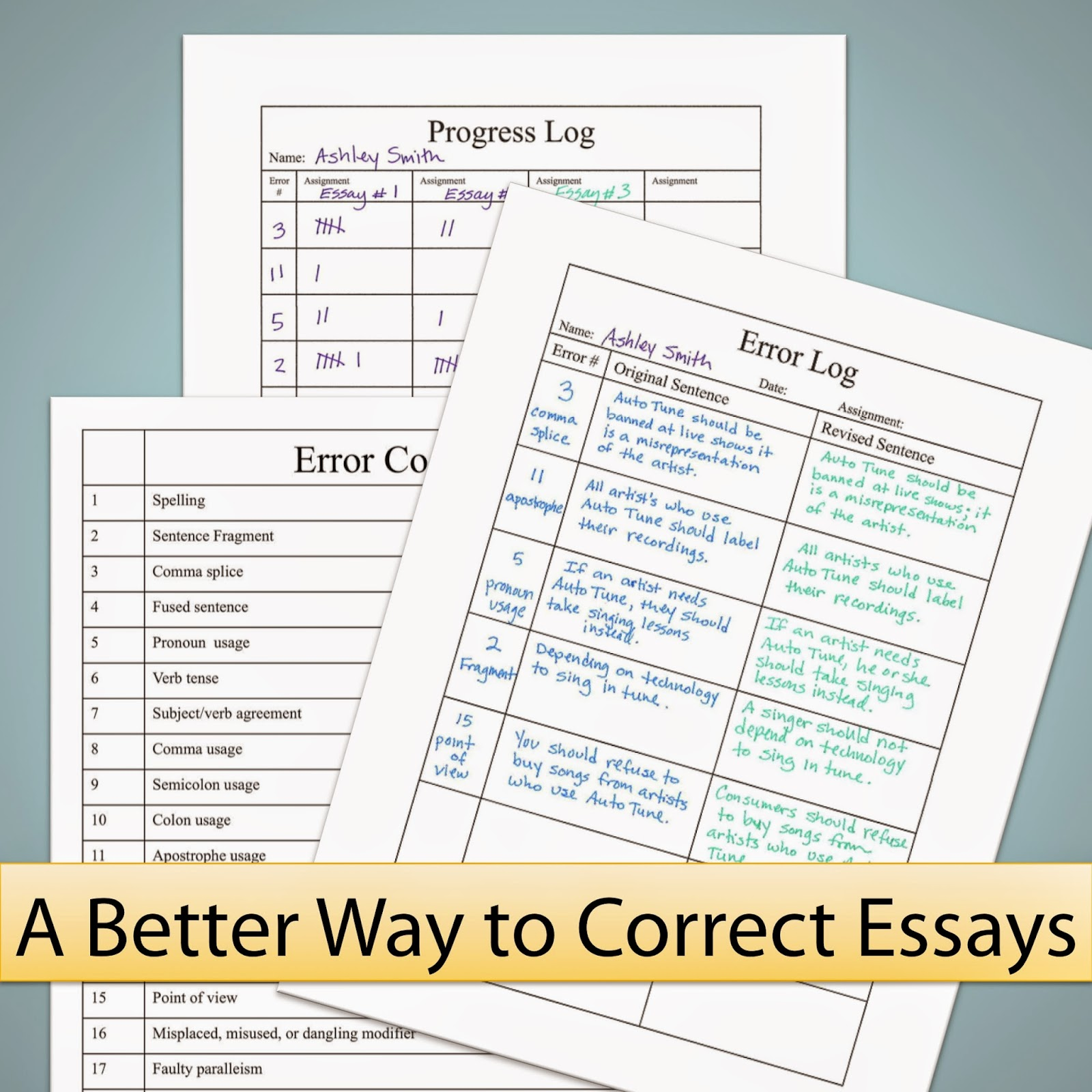 Persuasive essay revision worksheet