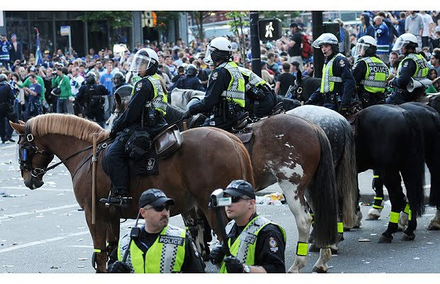 VPD%2Bhorse The Dangers Of De Policing Will Cops Just Stand Down?