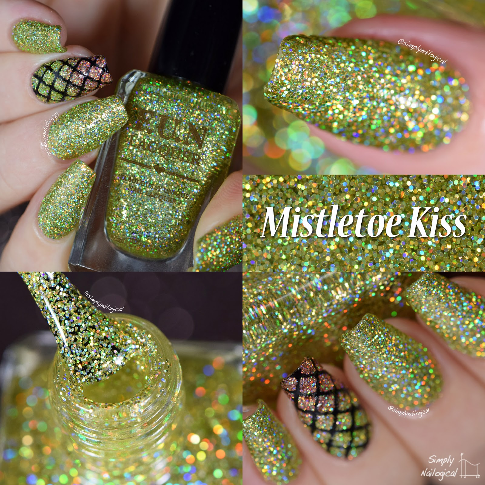 FUN Lacquer Christmas 2014 collection - Mistletoe Kiss swatch