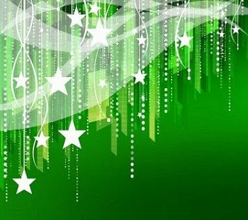 Green Christmas Stars Android Wallpapers HD