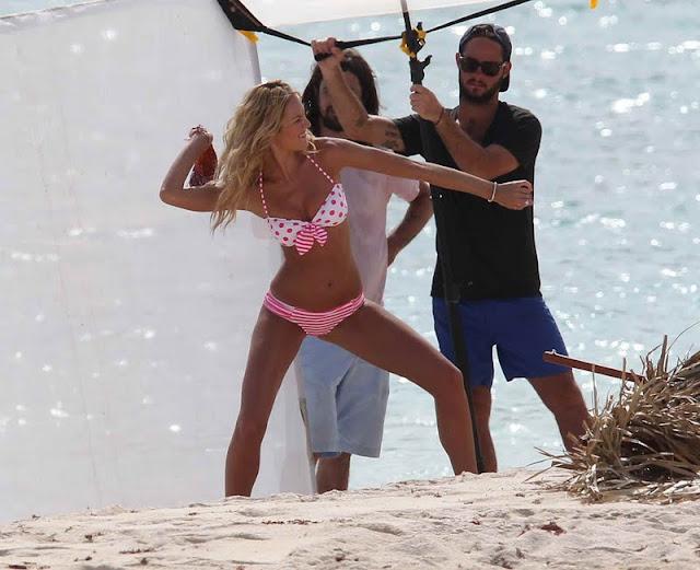 Candice Swanepoel – Victoria's Secret Bikini Photoshoot Candids in St. Barts