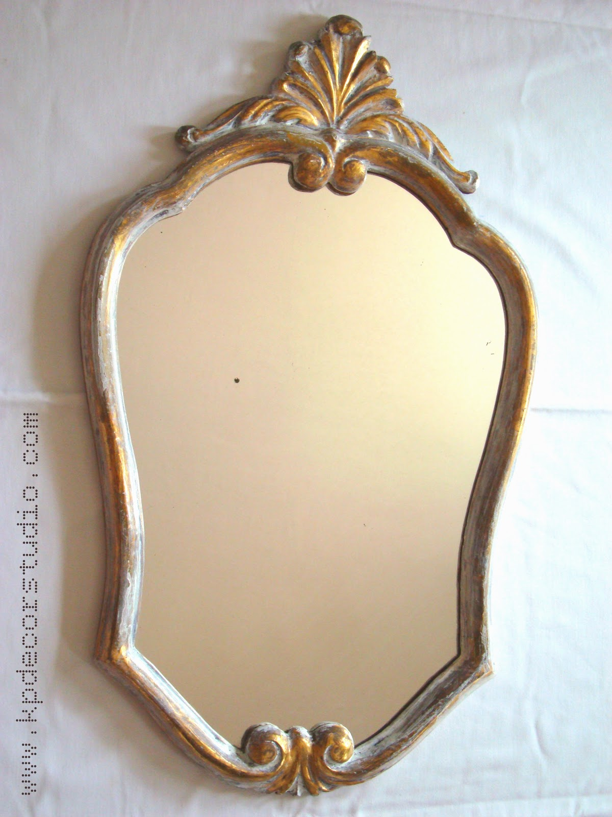 Kp decor studio espejo luis xv luis xv gold mirror for Espejo pared vintage