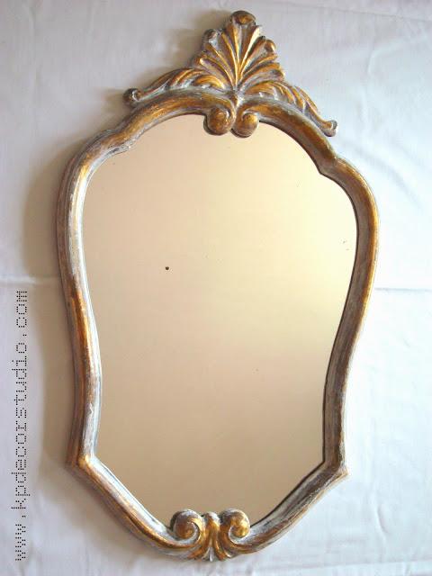 Espejos dorados. Espejo vintage modernista luis XV.