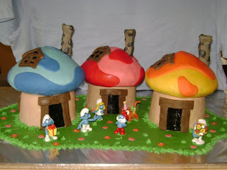 Smurfs cakes for children parties