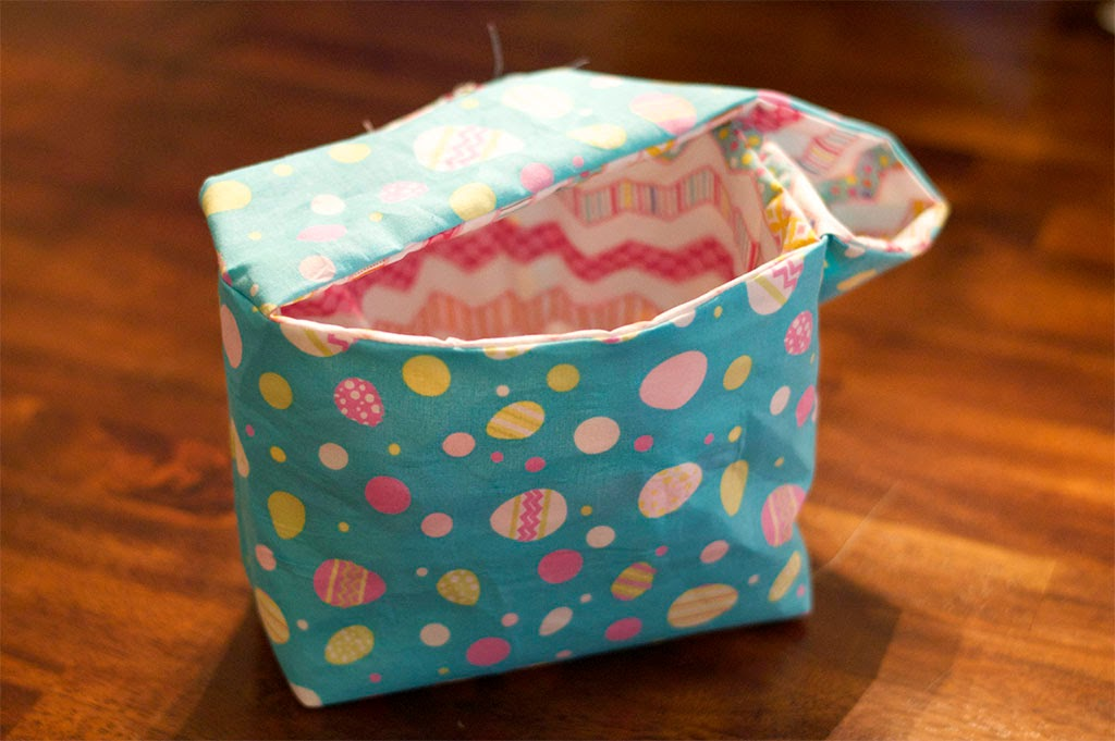 how to make a fabric easter basket tutorial