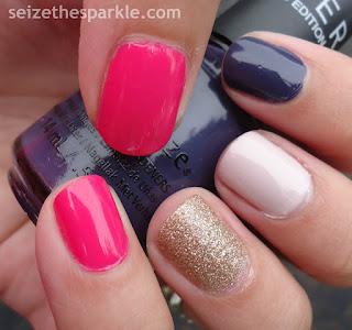 Glitter Skittle Nails