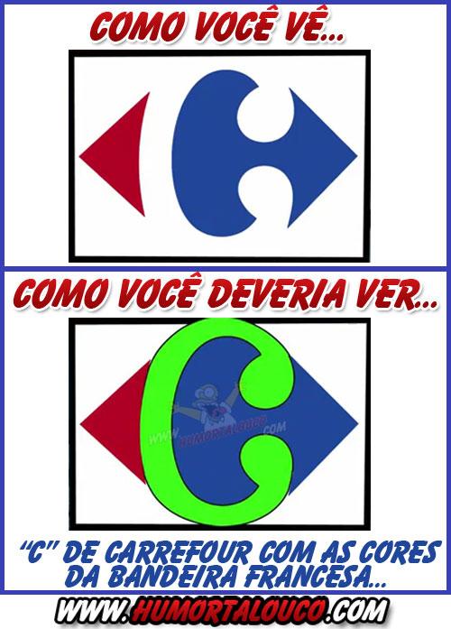 Mensagem Subliminar: Como você deveria ver a logo do Carrefour...