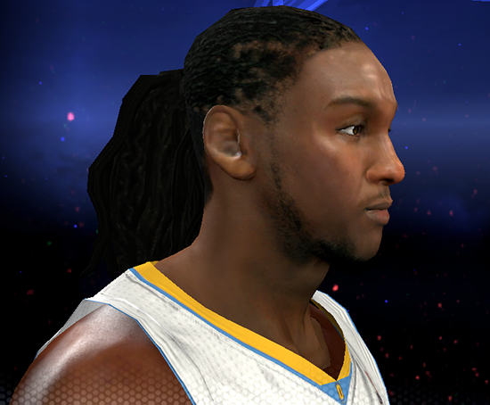 NBA 2K14 Kenneth Faried Next-Gen Face Mod