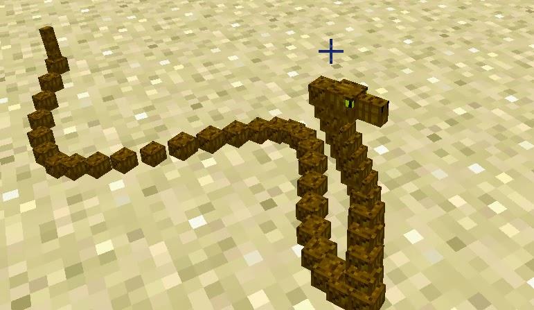 Mo' Creatures serpiente Minecraft mod