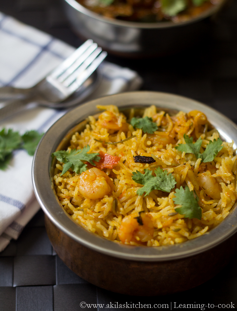 -to-cook: Prawn Biryani using coconut milk | Prawn Recipes | Biryani ...
