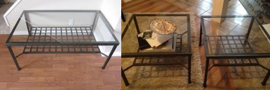 While Searching Kijiji I Wasnu0027t Finding Anything That Fit That Criteria.  But I Did Find These Cheap Glass Tables That Could Work With A Little  Tweaking.