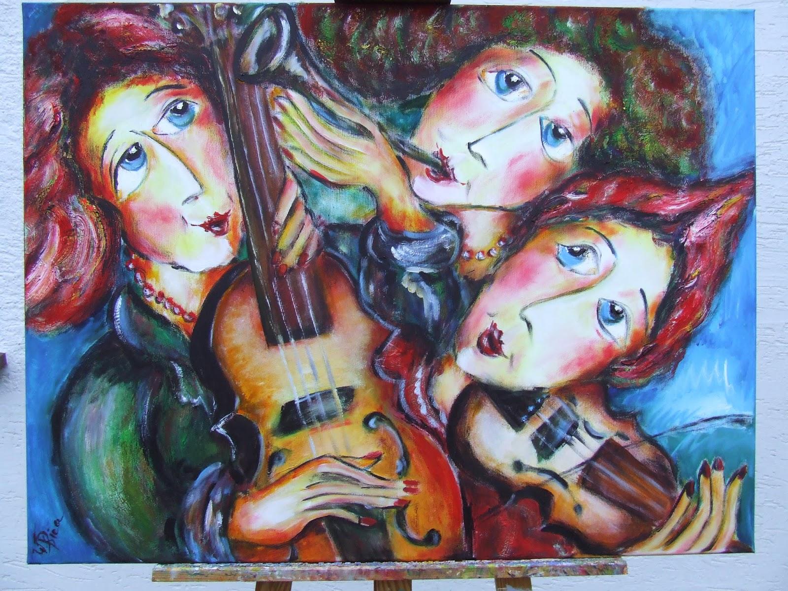 Malarstwo, W.Ptica, obraz olejny