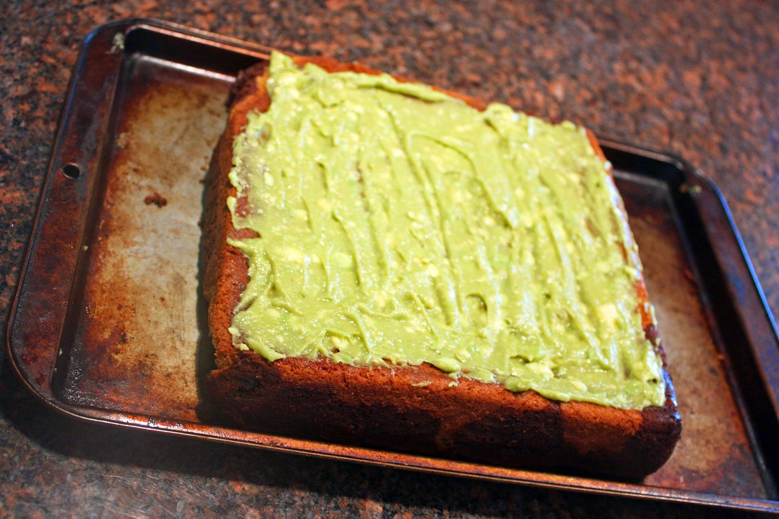 healthier gluten free blondie brownie swirl bars with avocado frosting