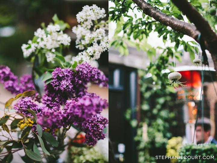 urban garden wedding at stable cafe