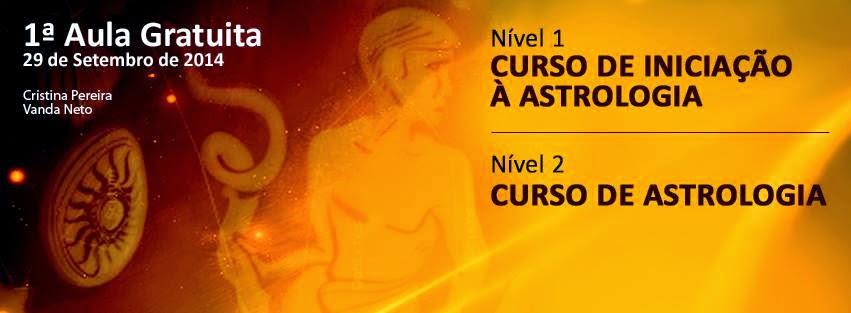 CURSOS DE ASTROLOGIA, NÍVEL 1 e NÍVEL 2