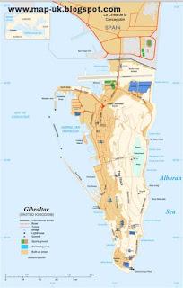 Gibraltar Region Political Map