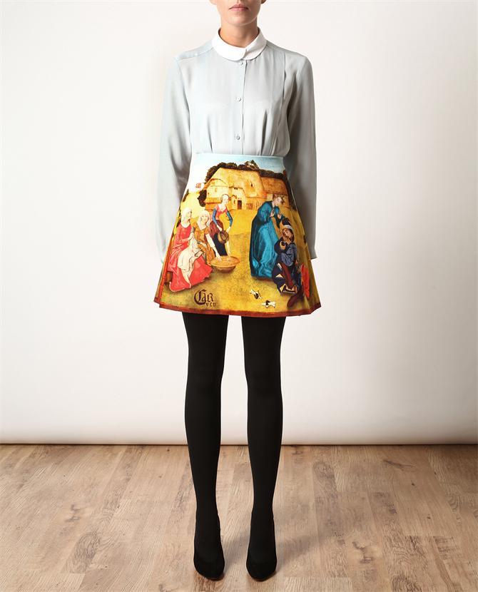 One Line Ascii Art Sunglasses : Fashion obsession carven renaissance printed skirt