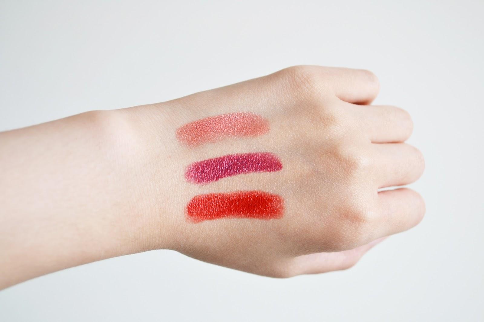 lipstick swatch, cien lipstick swatch