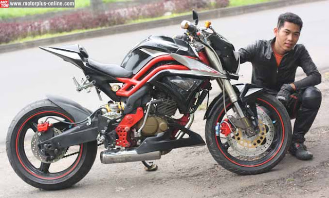Foto Modifikasi Motor Honda Tiger Revo Street Fighter