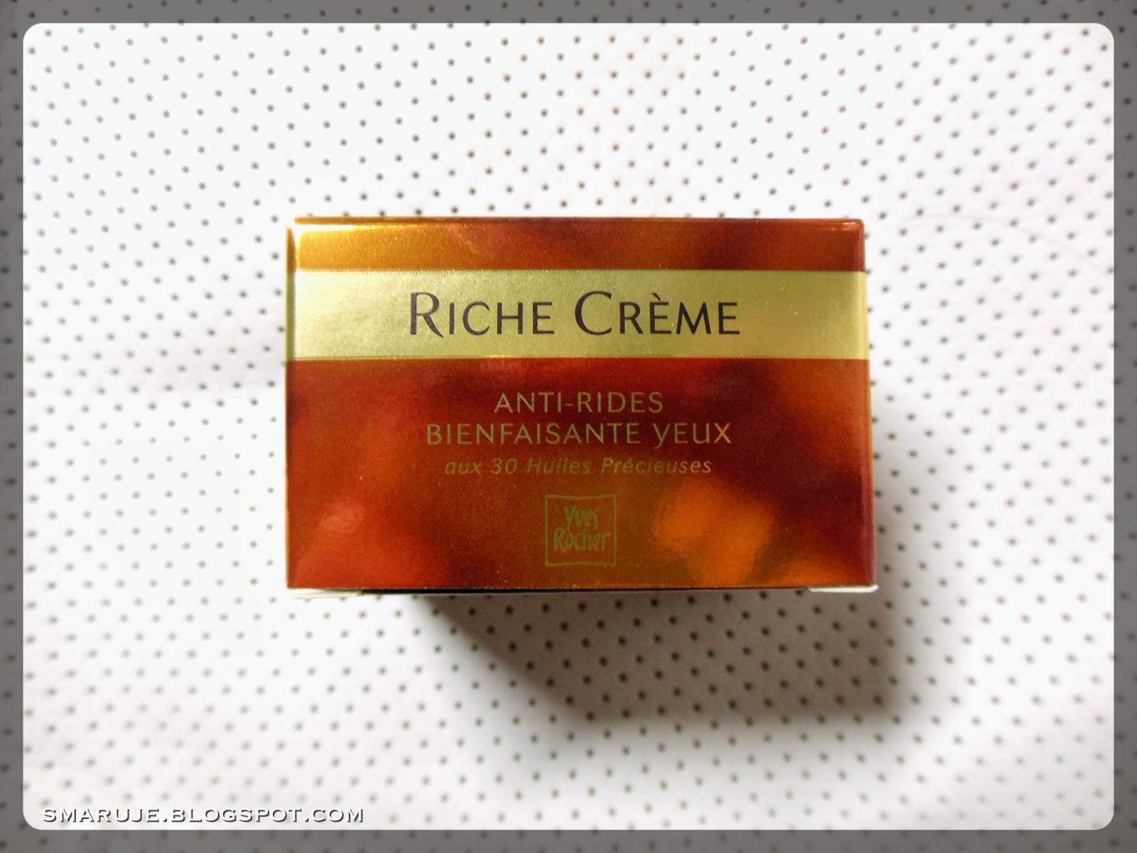 Yves Rocher – Riche Crème – przeciwzmarszczkowy krem pod oczy – starsza wersja [recenzja]