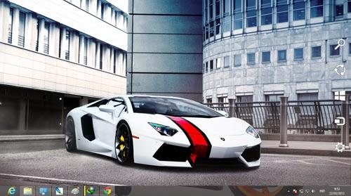Lamborghini Aventador LP 700-4 White Theme For Windows 7 And 8 8.1
