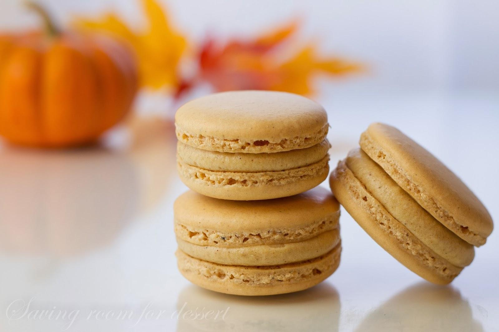 Pumpkin Macarons with Pumpkin Butter Buttercream - Saving Room for ...