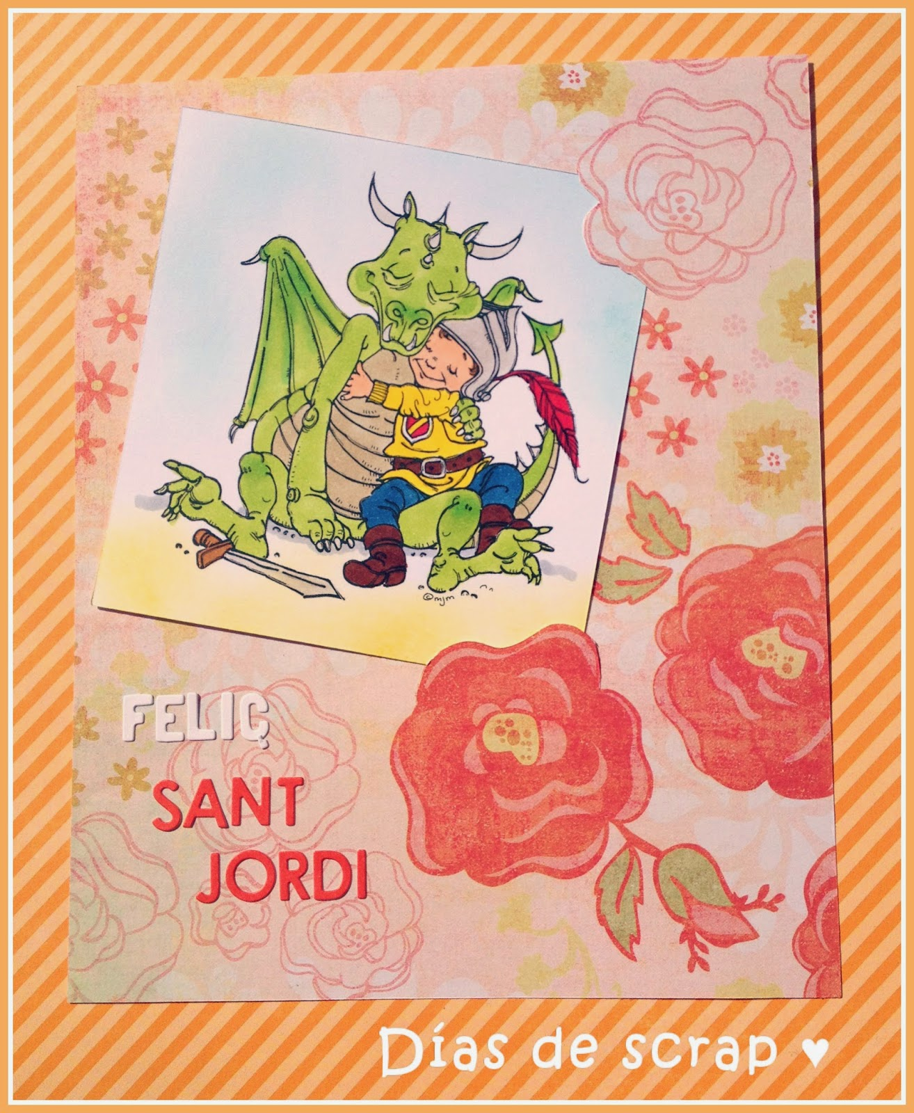 scrap postal sant jordi mo's digital stamps