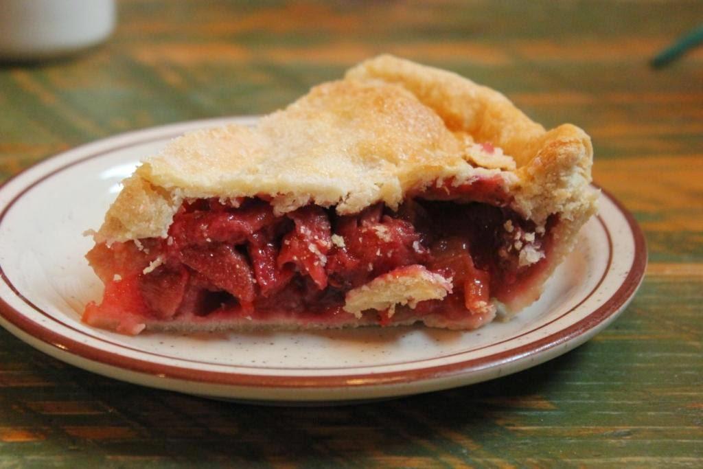 strawberry rhubarb pie at china dine-ah
