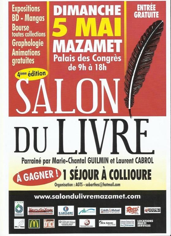 Cahier noir invitation au salon de mazamet le dimanche 5 mai - Invitation salon du livre ...