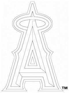 Escudo de los Angelinos de Anaheim para colorear