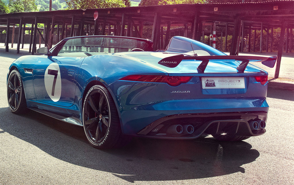 jaguar project The f‑type project 7 is a collectors' edition sports car, with a limited run of only 250 worldwide it's the fastest and most powerful jaguar ever, capable of reaching 60mph in just 38 seconds and a top speed of 186mph.