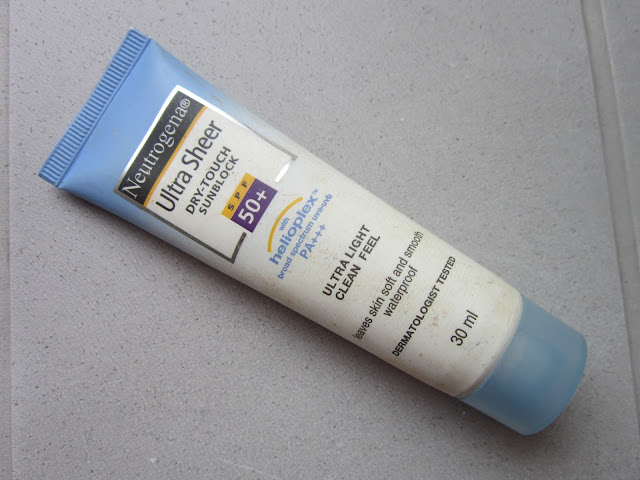 Neutrogena Ultra Sheer Dry-Touch Sunblock SPF 50+ (Review) image