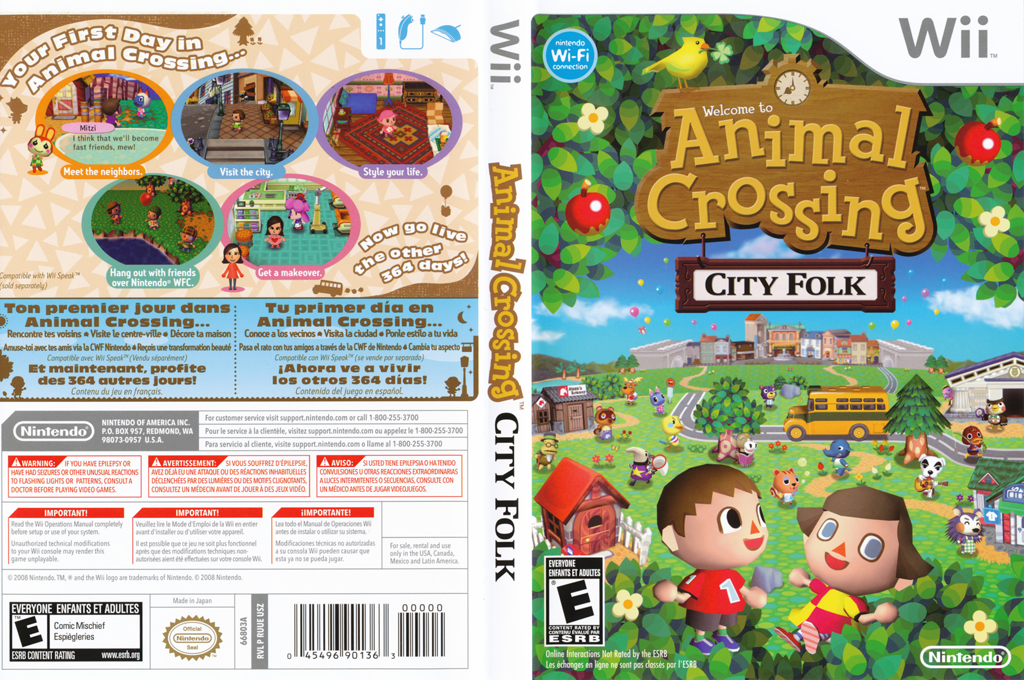 Animal Crossing City Folk Espa 241 Ol Wii