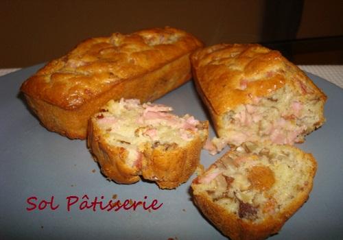Mini cakes jambon et noix