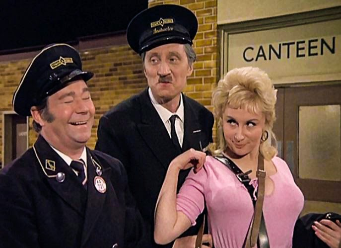 with Reg Varney, Stephen Lewis, unidentified actress