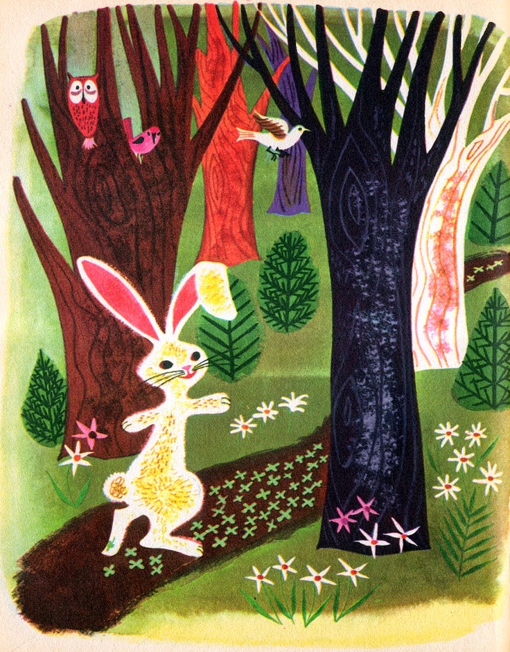 50's illustrator Art Seiden's Easter bunny illustration
